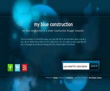 my blue construction blogger template