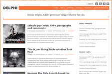Delphi Blogger Template