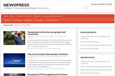 Newspress Blogger Theme