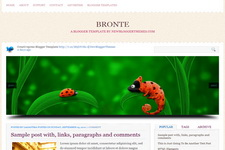 Bronte Blogger Theme