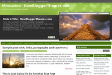 Mintozine Blogger Theme