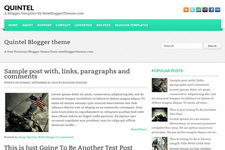 Quintel Blogger Theme