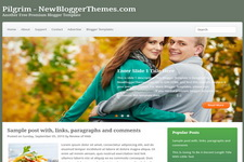 Pilgrim Blogger Theme