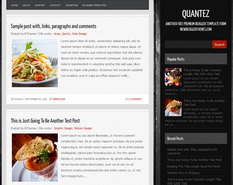 Quantez Blogger Theme