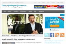 Table Blogger Theme