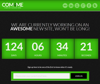 COM4ME Blogger Template - Green color
