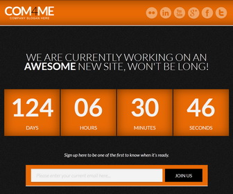 COM4ME Blogger Template - Orange color