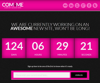 COM4ME Blogger Template - Pink color