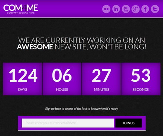 COM4ME Blogger Template - Purple color