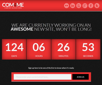 COM4ME Blogger Template - Red color