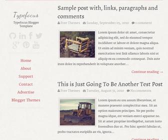 Typefocus Free Blogger Template