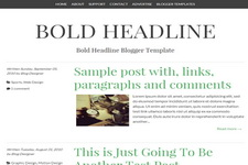Bold Headline Blogger Theme