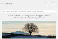 Clean Retina Blogger Theme