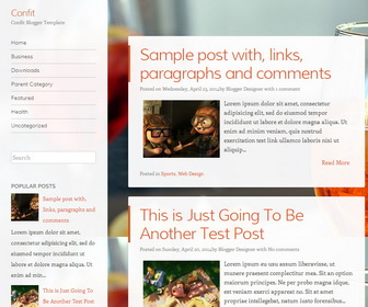 xml templates for blogger free download - confit blogger template