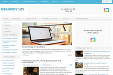 Delivery Lite Blogger Theme