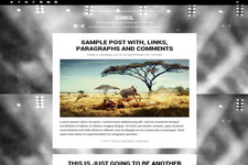 Singl Blogger Theme