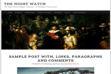 The Night Watch Blogger Theme