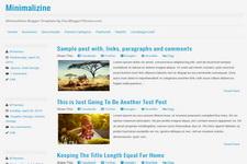 Minimalizine Blogger Theme