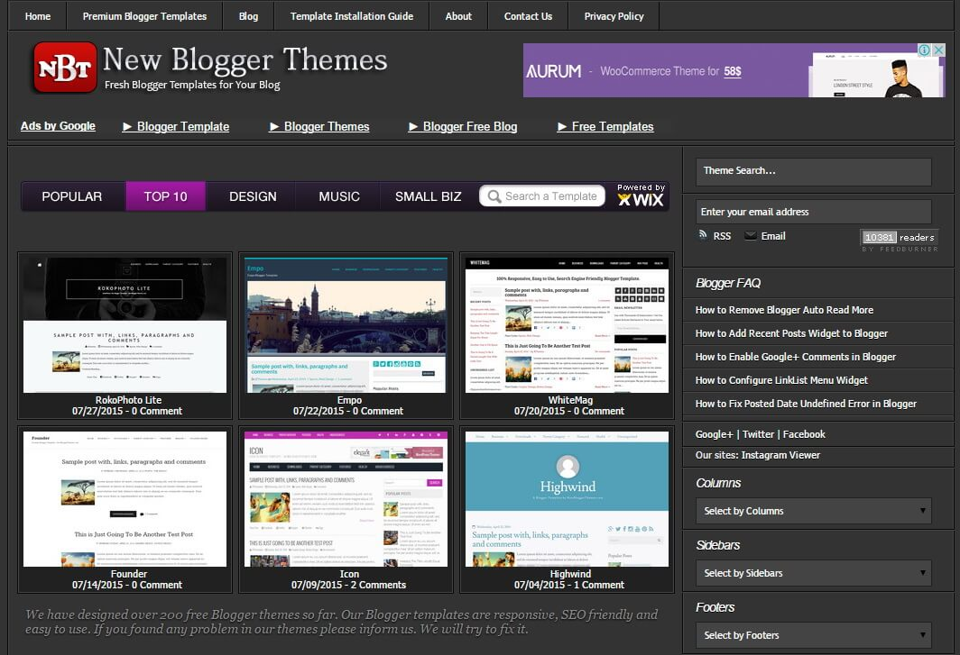 New blogger themes professional blogspot templates pronofoot35fo Images