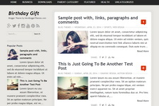 Birthday Gift Blogger Template
